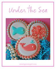Under the Sea Cookies (Sweet Goosie Girl) Tags: ocean fish beach goldfish little octopus whales nautical mermaid the decoratedsugarcookies