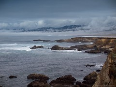 Fog on Manchester Beach - Olympus E-520 - Leica D. Summilux 25mm f/1.4 Asph. (divewizard) Tags: ocean california leica sea seascape mountains beach water fog clouds manchester coast surf waves afternoon pacific d f14 hill olympus hills coastal ravine bluffs dslr summilux asph bluff 43 pointarena ravines 25mm pointarenalighthouse mendocinocounty manchesterbeach fourthirds e520 leicadsummilux25mmf14asph chrisgrossman olympuse520 leicadsummiluxasph25mmf14
