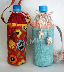 Bolsinha para garrafa de água (Zion Artes por Silvana Dias) Tags: patchwork garrafadeágua portagarrafa zionartes bolsaparagarrafadeágua