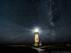Something out of nothing (Ben_Coffman) Tags: longexposure nightphotography lighthouse oregon stars andromeda pacificnorthwest oregoncoast yaquinahead yaquinaheadlighthouse starrynight milkyway longexposurenightphotography starphotography bencoffman milkywayphotography bencoffmanphotography