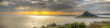 Sunbeams By The Mount (_ justintheframe_) Tags: panorama nikon cornwall theend panoramic sunbeams stmichaelsmount d800 penzance marazion themount justintheframe