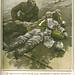 Capa de revista antiga com soldado inglês socorrendo um soldado alemão, 1915 | ww1 | magazine cover