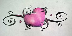 Filigree heart (ChadNicely1) Tags: pink hot cute art strange sunglasses sex tattoo drunk naked nude hearts design bacon women purple heart chad girly tags off tattoos doodle drugs beaches vagina chicks wives nicely inked filigree tattooed