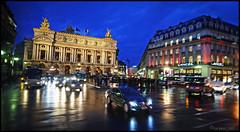 Opra (T.Thomas) Tags: street travel paris france heritage cars rain night buildings dark lights nikon europe crossing traffic historic tokina opra iconic 1224 d7000