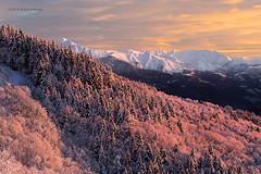Pink slopes (beppeverge) Tags: pink snow alps sunrise dawn alba rosa neve inverno alpi colline mottarone pendii mygearandme mygearandmepremium beppeverge vision:mountain=0778 vision:sunset=0702 vision:outdoor=0792 vision:sky=0673