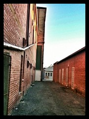 Lanes at Sunset 2 (florahaggis) Tags: sunset clouds sunrise australia victoria storms horsham laneways pc3400