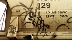 SIGH & RETRIBALIZE (BLACK VOMIT) Tags: car train graffiti ol streak tag south grain dirty dos sigh oil hopper freight moniker grainer retribalize sighone
