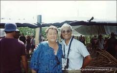 Con otra querida amiga rapa núi, María Teao.