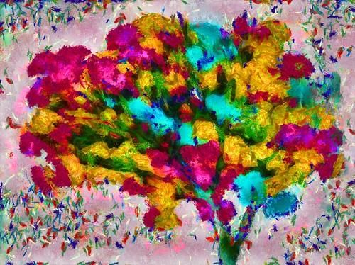 Flowered Tree Variation #165