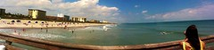 Cocoa Beach Pier (kev-syl) Tags: ocean sunset sun beach apple set sunrise spring break view florida olympus fl rise cocoa panaramic 2014 spr