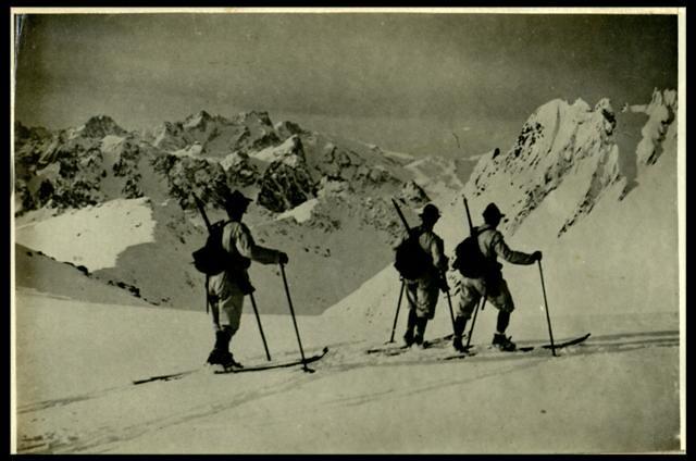 Pattuglia di skiatori in Cadore, 1915-1917, Roma Museo Centrale del Risorgimento