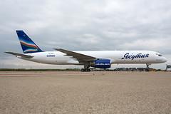 VQ-BPY (SjPhotoworld) Tags: blue netherlands maastricht ramp aircraft aviation cargo boeing maas russian freighter mst yakutia ehbk boeing757200 aircraftpainting b757200f maastrichtaachenairport yakutiaairlines maasaviation vqbpy yakutiacargo