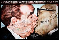 Fraternal Kiss (k.jessen) Tags: berlin germany berlinwall eastsidegallery leonidbrezhnev erichhonecker dmitrivrubel mygodhelpmetosurvivethisdeadlylove foursquare:venue=4bdc2b632a3a0f47fcb2b1b6