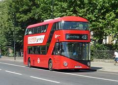 GAL LT295 - LTZ1295 - NEW CROSS GATE - TUE 21ST JULY 2015 (Bexleybus) Tags: new london gate cross route master boris routemaster tfl 453 goahead wrightbus nbfl borisbus lt295 ltz1295