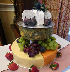 A really good cheesecake! (ronmcbride66) Tags: wedding cheesecake figs redleicester grapes art strawberries presentation centrepiece cheesecraft cheddar goatscheese seaholly cheese