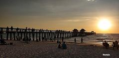 Pier bridge (ricmain) Tags: naples florida miami usa america stati uniti pier bridge ponte sea sun sunset beach spiaggia mainiero