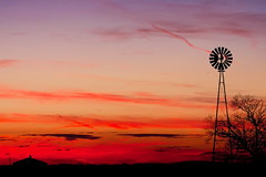 Windmill at Sunset (tomcanon68) Tags: canon40d canon canon100mm28ismacro canon100mmmacro sunset windmill lancastercounty silhouette