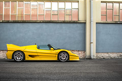 Shooting with the F50. (David Clemente Photography) Tags: ferrari ferrarif50 f50 v12 v12ferrari cars supercars hypercars yellow yellowf50 carspotting nikonphotography photography automotivephotography shooting