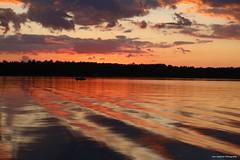 Sunset on the lake (anniegutierrez) Tags: sunset lake northernwisconsin wisconsin vilas northwoods