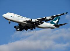 B-LID (MAB757200) Tags: cathaypacificcargo b747467fer blid runway31r jetliner jfk kjfk aircraft airplane airlines boeing landing