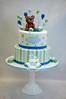 Pale Blue Cake (toertlifee) Tags: törtlifee teddybear teddybärmbär bear ballon blau hellblau paleblue palegreen white weiss schildkröten turtles geburtstagstorte geburtstag birthday cake torte birthdaycake kinder kids baby boy babyboy