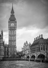 Westminster Bridge and the Houses of Parliament March 2017 (Camera Freak) Tags: england uk westminster bridge 2017 thames monochrome architecture building clock bigben tower london river leica leicam10 summicron 90mm leitz clouds sky westminsterbridge parliament housesofparliament