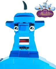 Genie Aladdin Face (SephiMoCff7) Tags: aladdin disney genie lego moc walt disneyland lamp wish wishes jafar abu jasmine