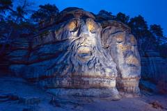 Devil Heads (XyrisKenn) Tags: sculpture stone hills devils faces czech intrigue blue light mood travel romance mystery canon 1ds iii 1740 f4 l twilight