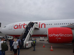 201701022 Berlin Tegel airport with AB airplane (taigatrommelchen) Tags: 20170105 germany berlin clouds airport airplane txl eddt ber