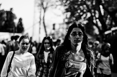 (Taygun AHISKALI) Tags: life street city people urban blackandwhite bw white black public contrast turkey walking photography 50mm photo blackwhite aperture noir day dof sony uv streetphotography streetscene istanbul stranger filter shutter hd af alpha blanc hoya lavie besiktas larue photoderue a580 laphotographiederue taygunahiskali