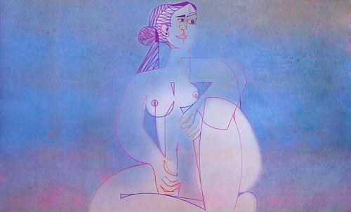 "Mujer Sentada, geometrización de Pablo Picasso (1953), abstracción de Roberto Real de León (2013). • <a style=""font-size:0.8em;"" href=""http://www.flickr.com/photos/30735181@N00/8805318703/"" target=""_blank"">View on Flickr</a>"