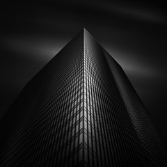 Angles of Light V - LyondellBasell Tower (Mabry Campbell) Tags: anglesoflight harriscounty houston houstonphotographer tx texas us usa unitedstates unitedstatesofamerica architecturalphotography architecture architecturephotography blackandwhite building bw dark downtown explore explored fineart fineartphotographer fineartphotography floors image le levels longexposure monochrome moody perspective photo photograph photographer photography up vertical windows f40 mabrycampbell september 2012 september222012 201209225464 40mm ¹⁄₃₂₀₀sec 400 ef1740mmf4lusm
