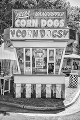 DSCF6830 (RHMImages) Tags: blackandwhite bw sign fuji fair fujifilm countyfair corndogs handdipped contracostacounty x100s