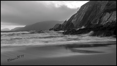 The steep Cliffs of Dunmore Head (Wilma van H - thanks for all your lovely comments!) Tags: blackandwhite monochrome dingle eire cliffs beaches dunquin dinglepeninsula blasketislands dunmorehead irishbeaches greatblasketisland coumeenolestrand inisnabr irishcoastal lir irishcoastallandscape