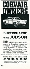1962 Judson Research and MFG Corvair Sports Car Graphic Advertising October 1962 (SenseiAlan) Tags: sports car advertising october graphic research 1962 corvair judson mfg