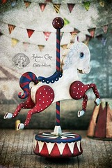 Antique Circus (Rebeca Cano ~ Cookie dolls) Tags: wood horse handmade circus go carousel fantasy round merry cookiedolls rebecacano