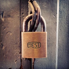 Only the best will do. (DieselDucy) Tags: square best squareformat sutro padlock bestuniversallockcompany 4b72 bestaccesssystems bestlogolock iphoneography instagramapp uploaded:by=instagram foursquare:venue=4db9bdc5043760912109db3d