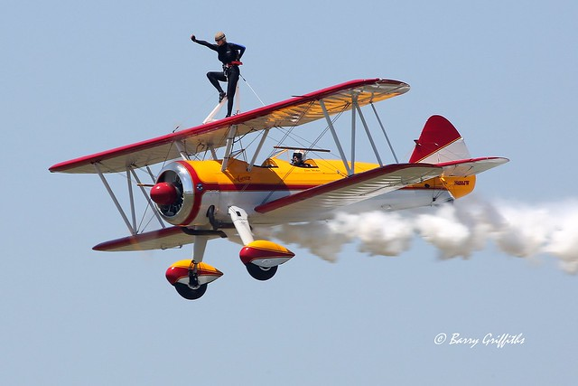 Wing Walker Jane Wicker & Pilot Charlie Schwenker killed in tragic crash at Vectren Air Show, Dayton, OH 22 June 2013 RIP