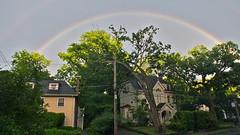 Double rainbow (lorac's) Tags: summer suburbia streetscene doublerainbow newton justafter justbefore