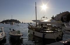 Hafen von Rovinij (HWa) Tags: boot eos meer wasser sonnenuntergang stadt hafen rovinj kroatien istrien caonon 55d
