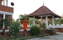 Monks Care for the Stupa