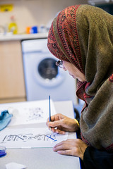 Arabic Calligraphy - Woolmore School (Idea Store Tower Hamlets) Tags: idea store arabic learning calligraphy