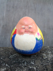 Chinese Weeble (The Moog Image Dump) Tags: vintage toy symbol chinese novelty pottery mandarin poly roly rolypoly weeble bureaucrat