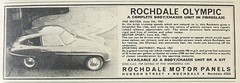 Rochdale Olympic kit car advert (Practical Motorist magazine, September 1961) (RETRO STU) Tags: mg morrisminor richardparker riley1500cc practicalmotoristmagazine ford109e rochdaleolympickitcar rochdaleolympiccoupé rochdalemotorpanelsengineeringltd fibreglassmonocoque ford116e1500ccengine