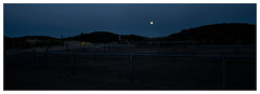 Moonrise (leo.roos) Tags: panorama moon mamiya monster mediumformat stitch dunes shift moonrise mf westland duinen stitched mamiya645 zuidholland fietsenstalling maan bicycleparking a99 darosa shiftpanorama leoroos mamiyasekorshiftc504