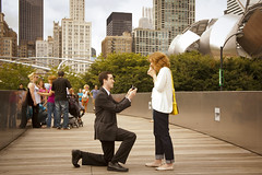Chris Proposes to Mary (2 of 8) (themats1) Tags: love beautiful engagement kiss milleniumpark ring surprise moment proposal engaged chicagoil onhisknee