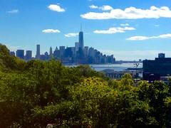 Lower Manahattan (Brad Clinesmith) Tags: nyc newyorkcity skyline river manhattan worldtradecenter wtc hudson lower 4s iphone freedomtower