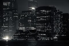 Pier 17 (grapfapan) Tags: nyc urban night skyscraper lights cityscape manhattan monochrom