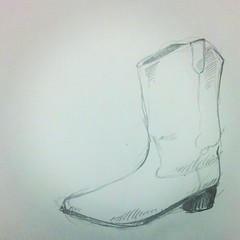 A #sketch I made for the ol' #fashionblog (Becky Haltermon Robinson) Tags: art pencil square boot sketch cowboy drawing lofi squareformat freehand cowboyboot iphoneography instagramapp uploaded:by=instagram
