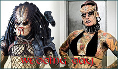 Predator Wedding Day (p2radio) Tags: wedding lady movie day body vampire maria extreme husband hose mexican domestic wife contract fangs piercings predator modification lawyer abuse cristerna